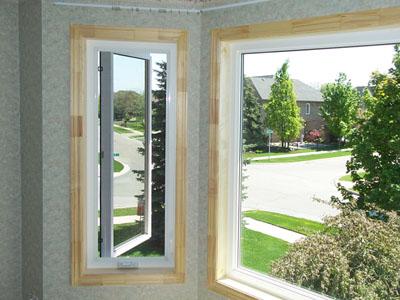 Brick to bricke casement window instalation in Oakville