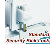 Sliding Door, Security Kick Lock