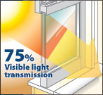 75% Visible Light Transmission