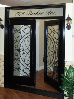 Burlington Front Entrance Cast (Wrought) Iron Doors