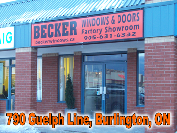 Becker Windows and Doors, Burlington Showroom