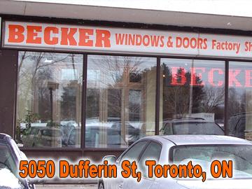Becker Windows and Doors, Toronto Showroom